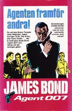 Baksida - Reklam för James Bond serietidningen