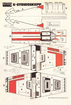 X-Stridsskepp Pappersmodell