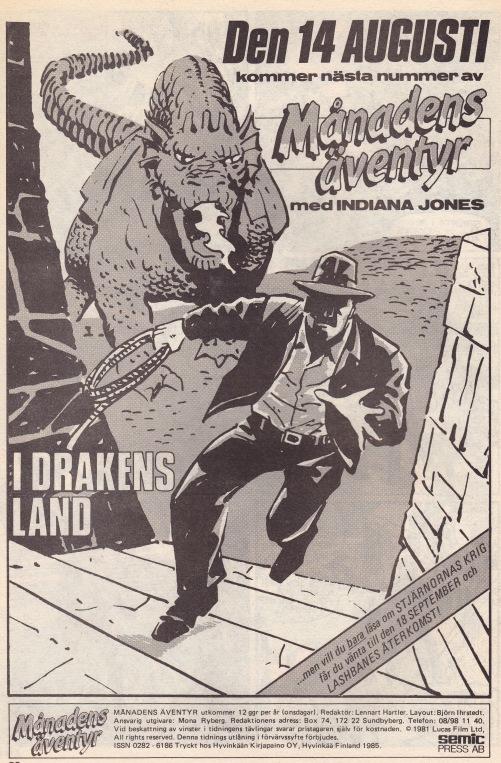 I nästa nummer - Indiana Jones