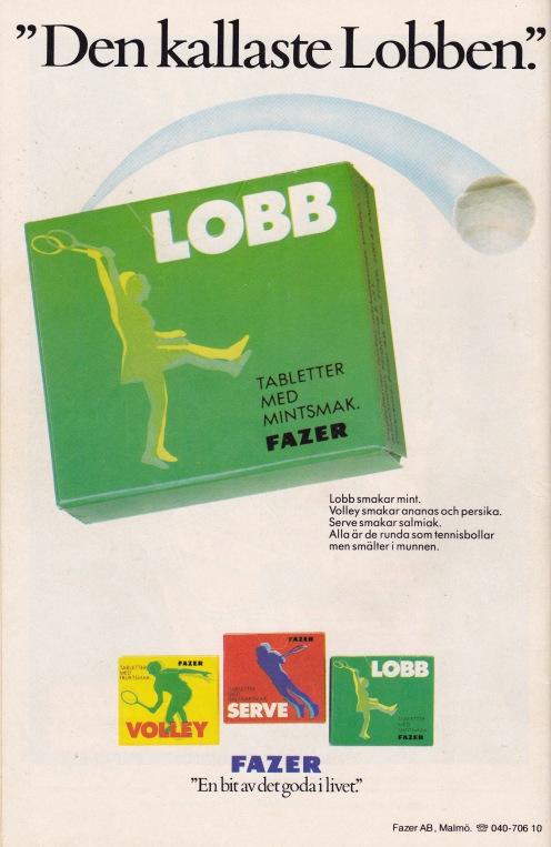 Baksida - Tennisgodis från Fazer