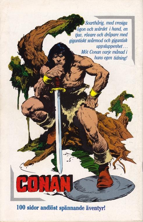 Baksida - Reklam för serietidningen Conan