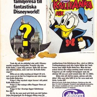Baksida - Vinn resa till Disneyworld med Göteborgskex!