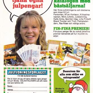 Framsidans insida - Jultidnigsförlaget 1983 - det är sig likt