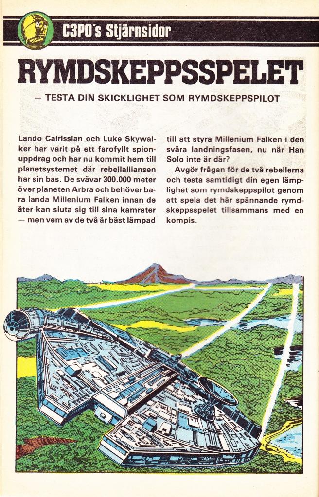 C-3P0's Stjärnsidor - Rymdskeppsspelet