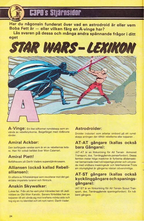 C3P0s Stjärnsidor - Lexikon A-B