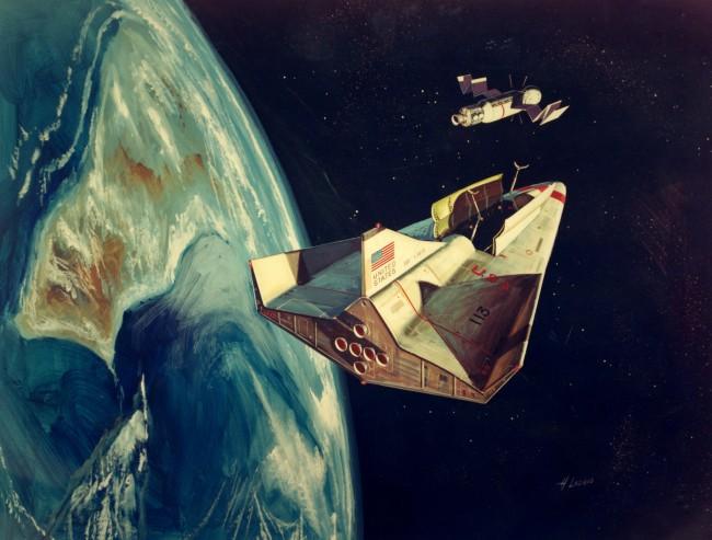 NASA Space Shuttle konceptmålning