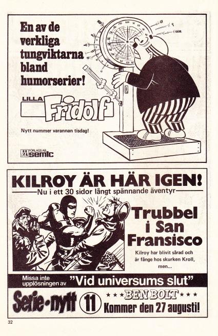 Lilla Fridolf - Nästa nummer