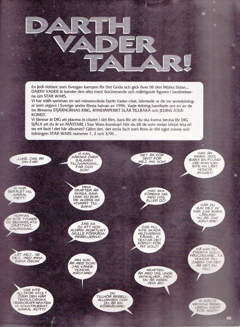 Darth Vader Talar - Citat-quiz