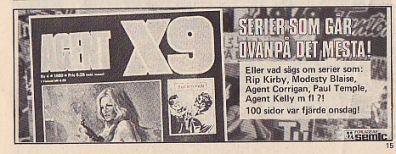 Agent X9 reklam