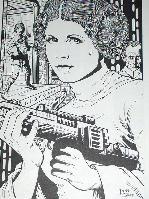 Gene Day - Star Wars portfolio 1977