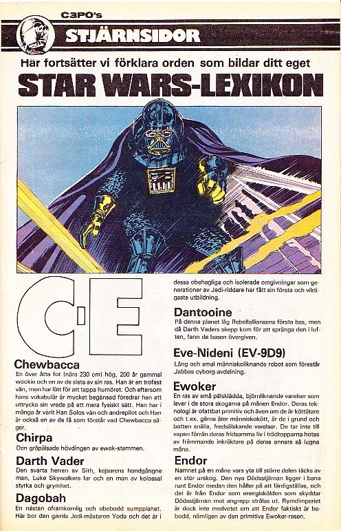 C3P0s Stjärnsidor - Lexikon C till E