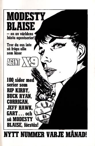 Agent X-9 reklam