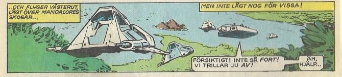 Speeders eskorterar Leia till Skelettstaden